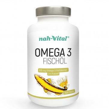 nah-vital Omega 3 Fischöl   400 Kapseln mit je 300mg Omega-3-Fettsäuren