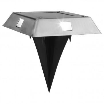 MAXXMEE Solar-Bodenleuchte - Bis zu 8 Stunden Leuchtdauer - viereckig - 4er-Set
