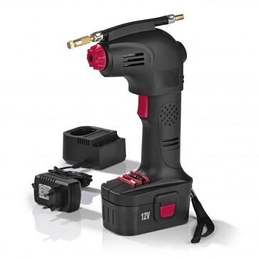 EASYmaxx Akku-Handkompressor 12V - Schwarz/Rot