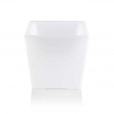 MAXXMEE LED-Blumenkübel mit Farbwechsel - eckig - 28 cm - weiß
