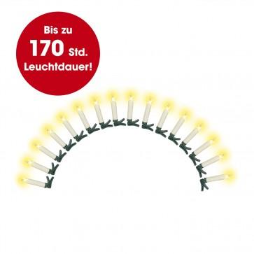 CHRISTmaxx Kerzenzauber - 16 kabellose  LED-Kerzen mit Fernbedienung - creme