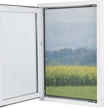 EASYmaxx Fenster-Moskitonetz mit Magnetbefestigung 150x130cm in Schwarz - Freisteller