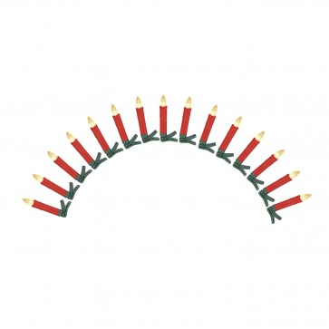CHRISTmaxx Kerzenzauber Deluxe kabellos 15er-Set 1,5 V in Rot mit Fernbedienung + Zubehör - Freisteller 1