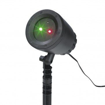 EASYmaxx Laserstrahler Lichtpunkte rot+grün 10W - Schwarz