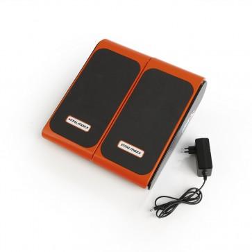 VITALmaxx Vibrationsgerät Training & Massage - 10 Intensitätststufen - schwarz/orange
