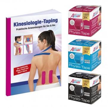 Aktimed TAPE PLUS 4x 5m   Physio-Tape für kinesiologisches Taping   speziell entwickelter Klebstoff mit pflanzlichen Extrakten
