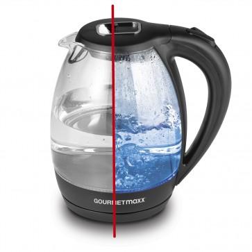 GOURMETmaxx Glas-Wasserkocher mit LED-Beleuchtung - 360° drehbar