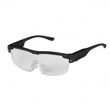 EASYmaxx Vergrößerungsbrille LED - Vergrößert um ca. 160 % - schwarz