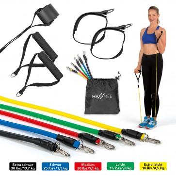 MAXXMEE Trainings-Set Fitness-Bänder - 11-tlg. Set - mehrfarbig