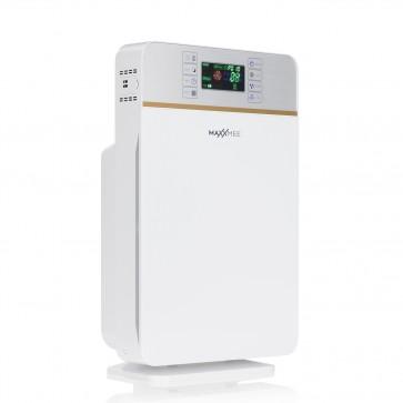 MAXXMEE Digitaler-Luftreiniger - Mit 6-Stufen-Reinigungsprozess - weiß/silber