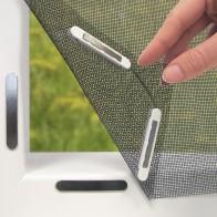 EASYmaxx Fenster-Moskitonetz mit Magnetbefestigung 150x130cm in Schwarz