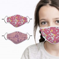 Gesichtsmasken-Set aus Baumwolle - Kids Girl Power/Retro 2-tlg.