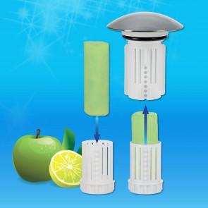 Abfluss-Fee Waschbecken 4x Verschlussstopfen & 9x Duftstein Zirtone/Apfel