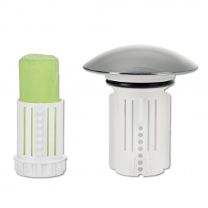 Abfluss-Fee Verschlussstopfen in Weiß mit Duftstein - Freisteller 1