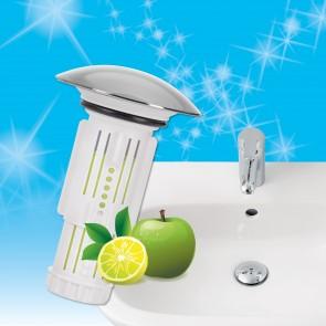 Abfluss-Fee Waschbecken 1x Verschlussstopfen & 1x Duftstein Zitrone/Apfel