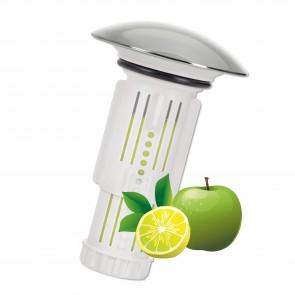 Abfluss-Fee Waschbecken 1x Verschlussstopfen & 9x Duftstein Zitrone/Apfel