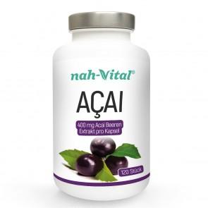 nah-vital Acai | 120 Kapseln mit je 400 mg Acai-Beeren-Extrakt