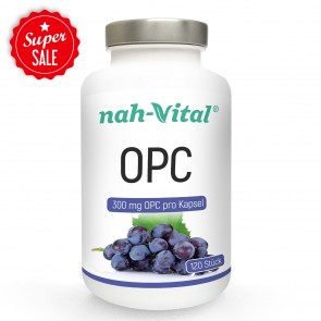 nah-vital OPC Traubenkernextrakt   120 Kapseln mit je 300 mg OPC