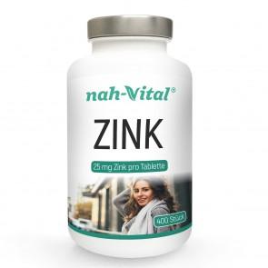 nah-vital Zink  400 Tabletten mit je 25 mg Zink