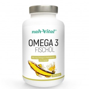 nah-vital Omega 3 Fischöl | 400 Kapseln mit je 300mg Omega-3-Fettsäuren