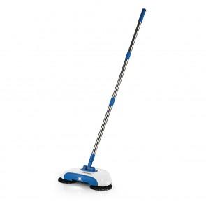 CLEANmaxx Bodenkehrer mit LED-Beleuchtung 4,5V - Blau/Weiß