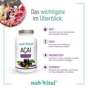 nah-vital Acai 2er-Set | Je 120 Kapseln mit je 400 mg Acai-Beeren-Extrakt