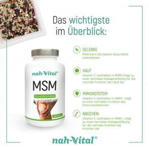 nah-vital MSM | 365 Kapseln mit je 700 mg MSM