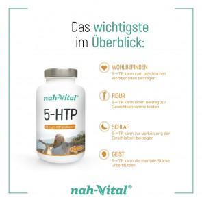 nah-vital 5-HTP 2er-Set | Je 200 Kapseln mit je 20 mg 5-HTP