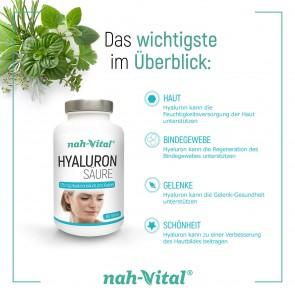 nah-vital Hyaluron 2er-Set | Je 60 Kapseln mit je 125 mg Hyaluronsäure