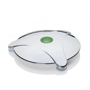 Abfluss-Fee Verschlussstopfen Dusche 5-tlg. in Weiß/Chrom - Freisteller