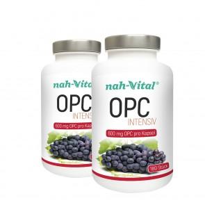 nah-vital OPC intensiv 2er-Set | Je 180 Kapseln mit je 600 mg OPC
