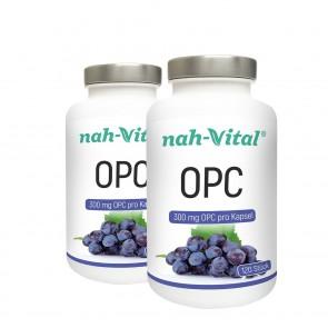 nah-vital OPC Traubenkernextrakt 2er-Set | Je 120 Kapseln mit je 300 mg OPC