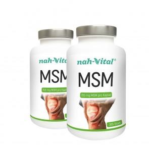 nah-vital MSM 2er-Set | Je 365 Kapseln mit je 700 mg MSM