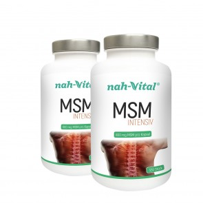 nah-vital MSM intensiv 2er-Set | Je 330 Kapseln mit je 800 mg MSM