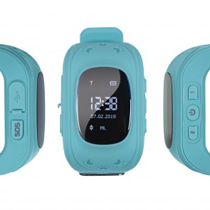 EASYmaxx Armbanduhr Kids Smart Watch OLED - Hellblau