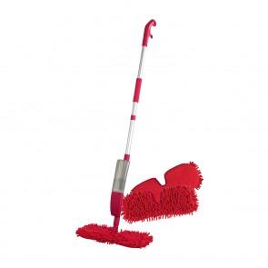 CLEANmaxx Spray-Mopp flexibel in Rot + Ersatz-Wischtuch 2er-Set - Freisteller