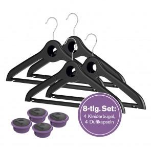 CAPSAIR Bügel 4er-Set schwarz mit 4 Kapseln Lavendel