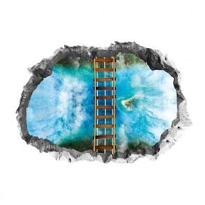 EASYmaxx Bodensticker 3D Hängebrücke 90x60cm mehrfarbig