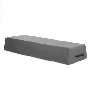Hoberg Sonnenliegen-Abdeckung - 200 x 75 x 40 cm - grau/schwarz