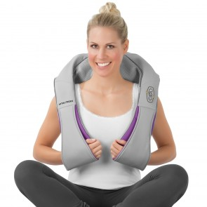 VITALmaxx Shiatsu-Massagegerät 2-tlg. grau/lila - Anwendung