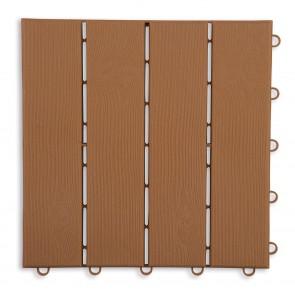 MAXXMEE Terassenplatten in Holz-Optik mit UV-Schutz - 12er-Set - 31x31x2 cm - braun