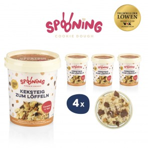 SPOONING Cookie Dough Keksteig Caramel 'n' Salt - 4er-Set