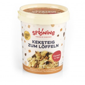 SPOONING Cookie Dough Keksteig - 4x 170 g Caramel 'n' Salt