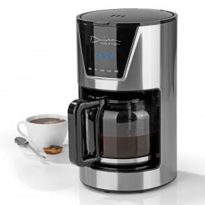 Barista Kaffeemaschine - Für bis zu 12 Tassen - Kaffeestärke einstellbar - Edelstahl/schwarz
