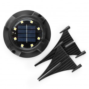 MAXXMEE Solar-Bodenleuchte mit Dämmerungssensor - 4er-Set - schwarz
