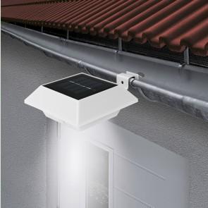 EASYmaxx Solar-Leuchte Dachrinne eckig 3er-Set 1,2 V in Weiß