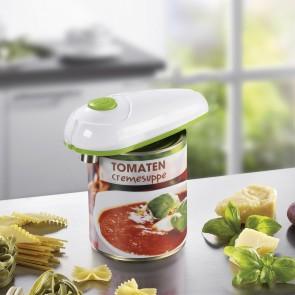 GOURMETmaxx Dosenöffner vollautomatisch, weiß/limegreen