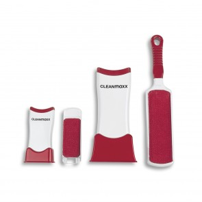 CLEANmaxx Fusselschreck 2er Set in Weiß/Rot