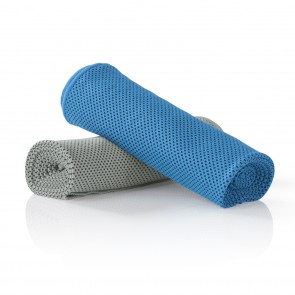 VITALmaxx Handtuch Cool & Refresh 2-tlg. - Blau/Grau