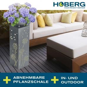 Hoberg LED Pflanzsäule in Beton-Optik